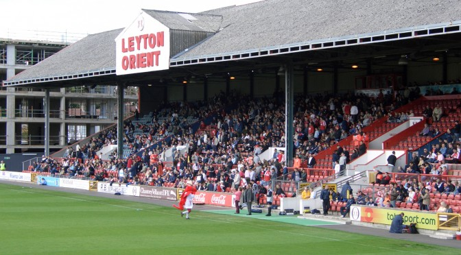 An image of Brisbane Road, Leyton Orient's home ground.