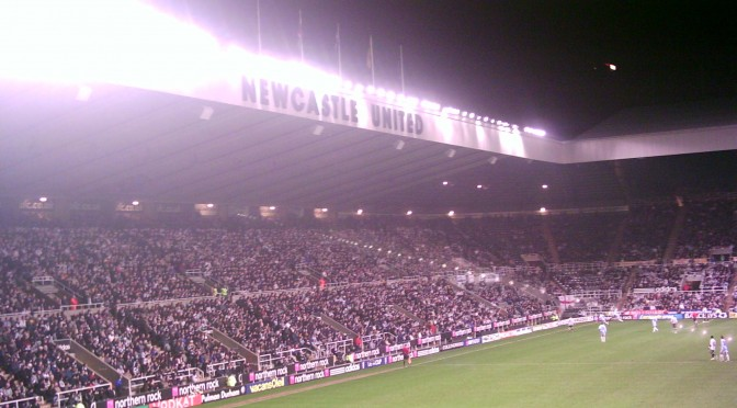 """Newcastle United v Zulte Waragem, 2007 (2)"" by User:Responsible? - Self-photographed. Licensed under Public Domain via Wikimedia Commons - http://commons.wikimedia.org/wiki/File:Newcastle_United_v_Zulte_Waragem,_2007_(2).JPG#/media/File:Newcastle_United_v_Zulte_Waragem,_2007_(2).JPG"
