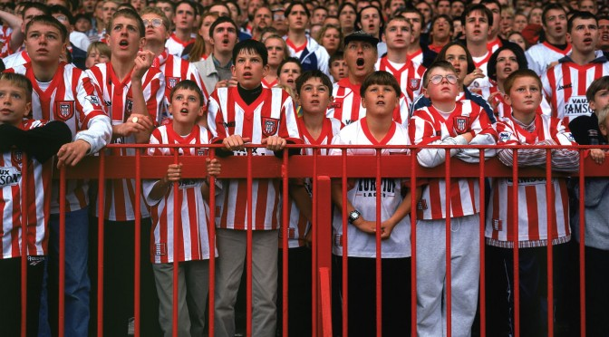 An image of Sunderland fans at Roker Park.