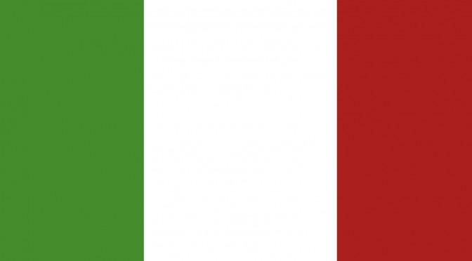 An Italian flag.