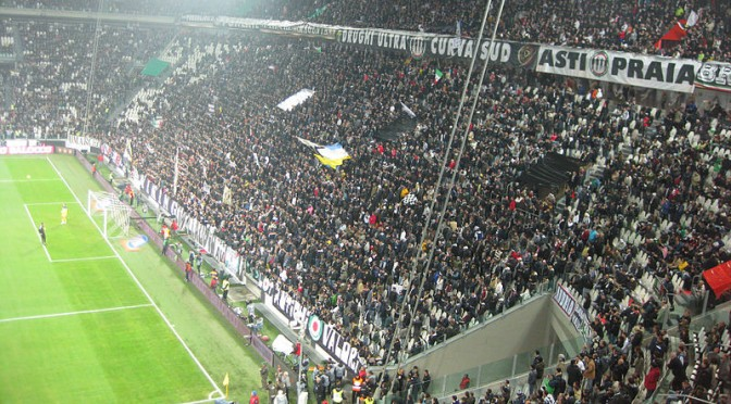 An image of Juventus' curva sud.