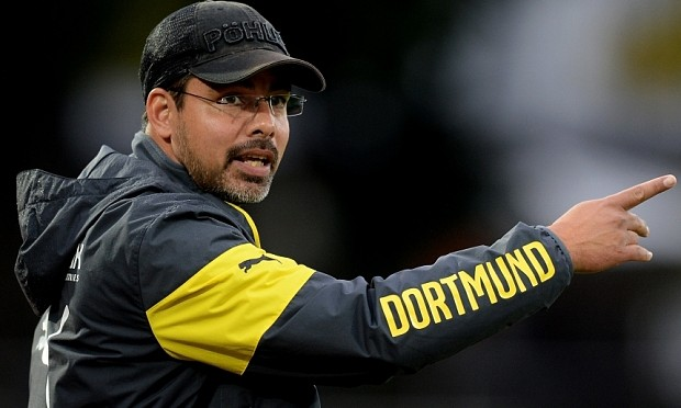 DORTMUND, GERMANY - AUGUST 26:  Head coach David Wagner of Dortmund reacts during the third league match between Borussia Dortmund II and 1. FSV Mainz 05 II at Stadion Rote Erde on August 26, 2014 in Dortmund, Germany.  (Photo by Sascha Steinbach/Bongarts/Getty Images)